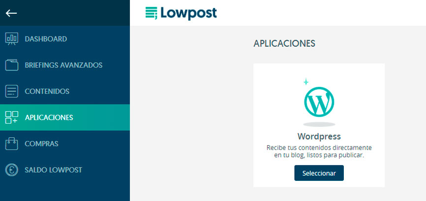 vincula tu wordpress